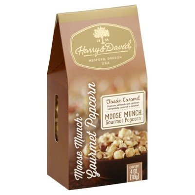 Harry & David 4 oz. Caramel Moose Munch Gourmet Popcorn Case Of 6