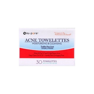 nu pore Nu-pore Acne Towelettes Moisturizing & Cleansing 30 Count in Each BOX (2 Pack)