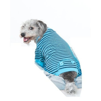 Fashion Pet Blue STRIPED PJ'S, Extra Extra Small