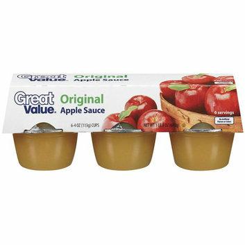 Great Value : 6-4 oz Cups Apple Sauce