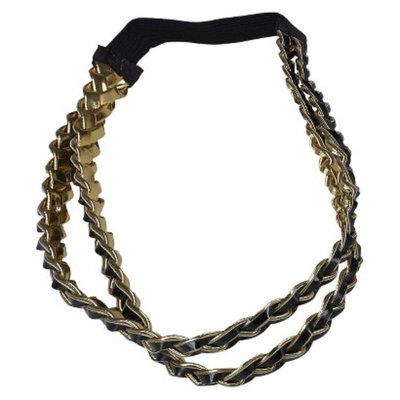 Remington Reversible Gold and Black Braid Hair Wrap