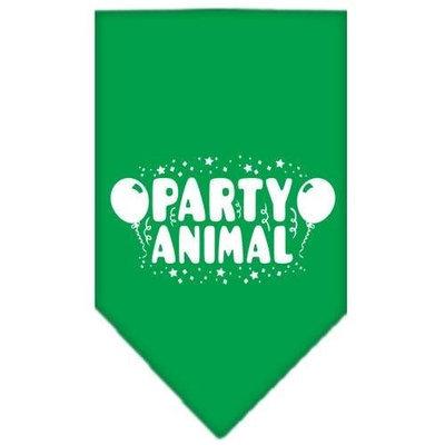 Ahi Party Animal Screen Print Bandana Emerald Green Large