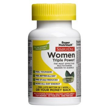 Super Nutrition SimplyOne Women Multivitamin-Mineral Dietary Supplement Tablets