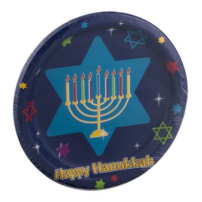 Party Creations Hanukkah Festivities Plates - 8 CT