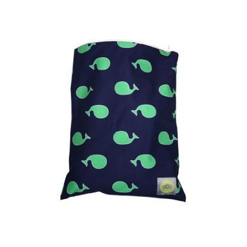 Itzy Ritzy Zippered Wet Bag, Whale Watching Blue (Discontinued by Manufacturer)