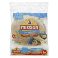 MISSION Flour 8ct 8oz Fajita Low Carb Whole Wheat