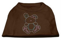 Mirage Pet Products 52-88 XXLBR Bunny Rhinestone Dog Shirt Brown XXL - 18
