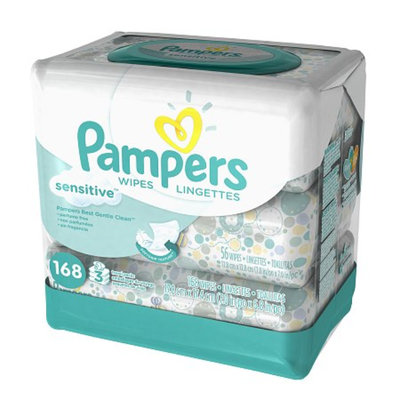 Pampers Sensitive Wipes 3x Travel Pack, 168 ea