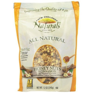 New England Naturals ENGLAND NATURALS Honey Nuts and Cinnamon Granola, 12-Ounce Pouches (Pack of 6)