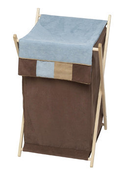 Sweet Jojo Designs Soho Blue and Brown Collection Laundry Hamper