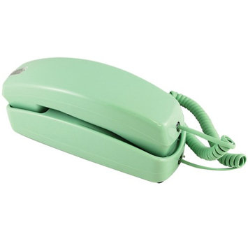Golden Eagle Electronics Trimline Corded Telephone - Design From 60s With Modern Electronics (Green)