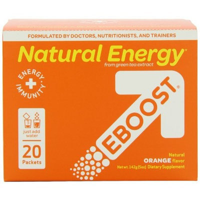 Doctor Ben Recommends EBOOST Natural Energy Powder, Orange, 20 Packets
