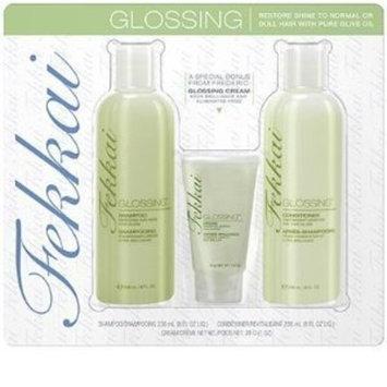Fekkai Glossing Hair Care Kit Glossing Shampoo 8oz, Glossing Conditioner 8oz and Glossing Cream 1oz