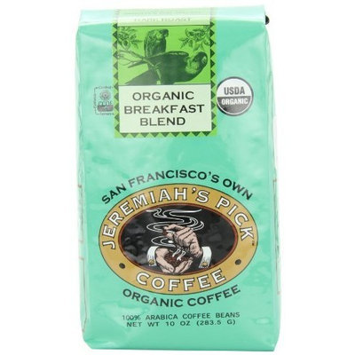 Jeremiah's Pick Coffee Co. Jeremiah's Pick Coffee Organic Breakfast Blend, Dark Roast Whole Bean Coffee, 10-Ounce Bags (Pack of 3)