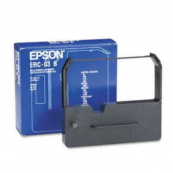 Epson ERC03B Fabric Black Cash Register Ribbon, 6M Yield