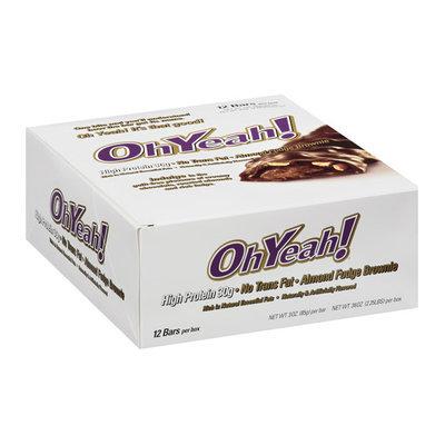 OhYeah! Almond Fudge Brownie Bars