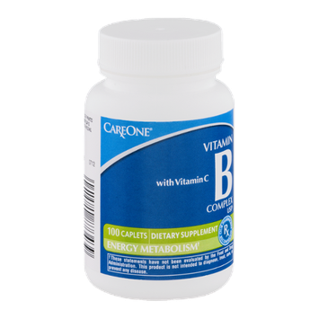 CareOne Vitamin B Complex Caplets with Vitamin C - 100 CT