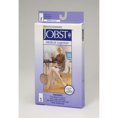 Jobst Women's Opaque 30-40 mmHg Open Toe Knee High Support Sock Size: Large Full Calf, Color: Silky Beige