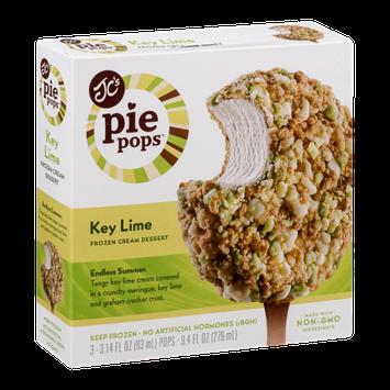 JC's Pie Pops Frozen Cream Dessert Key Lime - 3 CT