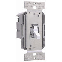 Legrand TradeMaster 600W Lighted Three Way Toggle Dimmer in White