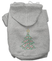 Mirage Pet Products 542505 XLGY Christmas Tree Hoodie Grey XL 16