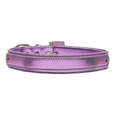 Mirage Pet Products 1802 LGPRM .75 in. 18mm Metallic TwoTier Collar Purple Large