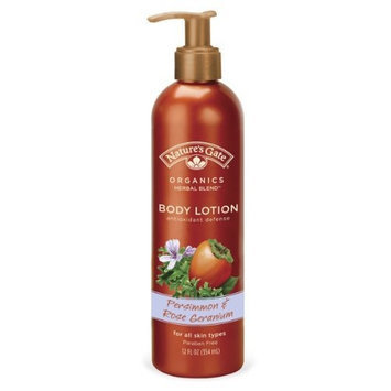 Nature's Gate Natures Gates Nourishing Antioxidant Defense Body Lotion -Persimmon & Rose Geranium-12oz
