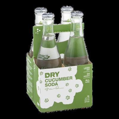 Dry Cucumber Soda - 4 CT