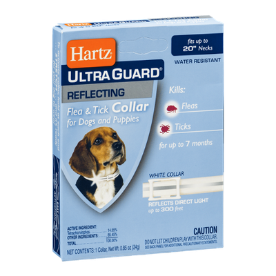Hartz Ultra Guard Reflecting Flea & Tick Collar for Dogs and Puppies