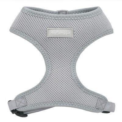 Hip Doggie HD-6PMHGY-L Large Ultra Comfort Gray Mesh Harness Vest