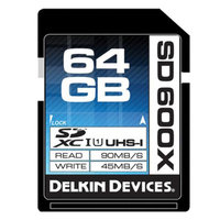Delkin 64GB SD 600X UHS-I Memory Card w/ Ddreader 42 USB 3 Universal Memory Card