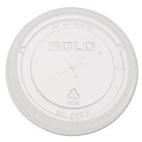 Solo Cup Solo Inc. Cup Lids Solo 662TS Clear Lid with Straw Slot