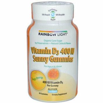 Rainbow Light Vitamin D3 Sunny Gummies Tangy Orange 400 IU 60 Gummies