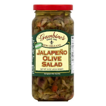 Gambino 16 oz. Jalapeno Olive Salad - Case Of 6