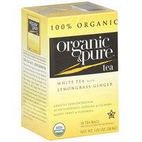 Organic & Pure White Tea Bags Lemongrass Ginger,6 Pack