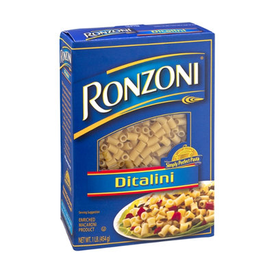 Ronzoni Enriched Macaroni Product Ditalini