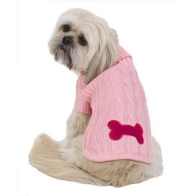 Fashion Pet Bone Patch Cable Dog Sweater