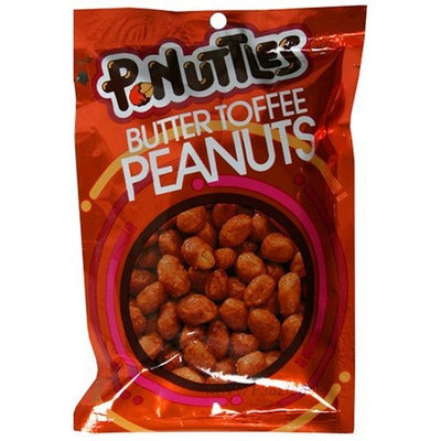 Adams & Brooks P-Nuttles Butter Toffee Peanuts, 3-Ounce Bags (Pack of 12)