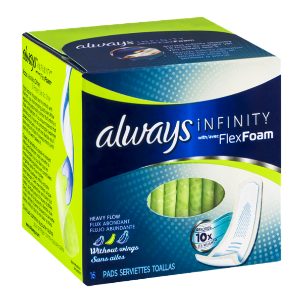 Always Infinity with FlexFoam Heavy Flow Pads - 16 CT