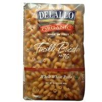 Delallo Organic Whole Wheat Fusilli Bucati #76, 16-Ounce Units (Pack of 16)