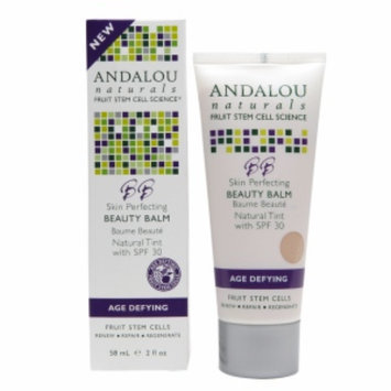Andalou Naturals Skin Perfecting BB Beauty Balm SPF 30, Orange, Natural Tint, 2 fl oz