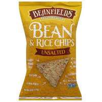 Beanfields Unsalted Bean & Rice Chips, 6 oz, (Pack of 12)
