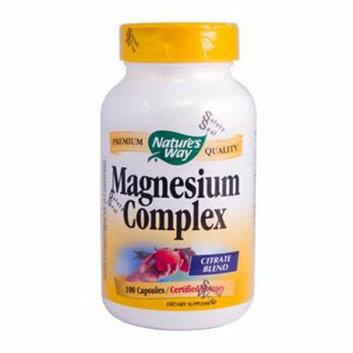 Natures Way 816363 Magnesium Complex - 100 Capsules
