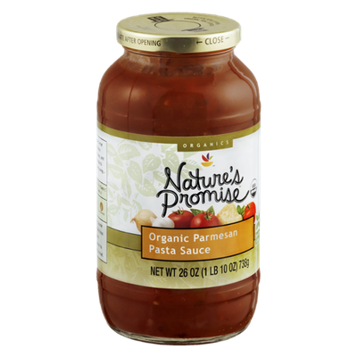 Nature's Promise Organics Pasta Sauce Organic Parmesan
