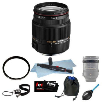 Sigma 18-250mm f3.5-6.3 DC MACRO OS HSM for Nikon Digital SLR Cameras Bundle
