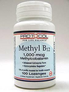Methyl B12 1000 mcg 100 loz by Protocol For Life Balance