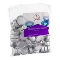 Smart Living Unscented Tealights - 50 CT