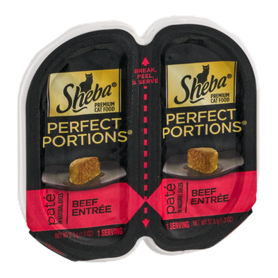 Sheba Perfect Portions Pate Premium Cat Food Beef Entree