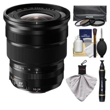 Fujifilm 10-24mm f/4.0 XF R OIS Zoom Lens with 3 Hoya UV/CP/ND8 Filters Kit for Fuji X-A1, X-E1, X-E2, X-M1, X-T1, X-Pro1 Cameras