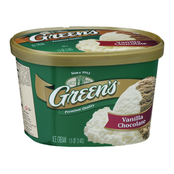 Green's Ice Cream Vanilla Chocolate